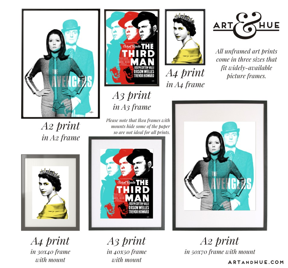 Art Prints Framing Guide Frame Sizes A2_A3_A4