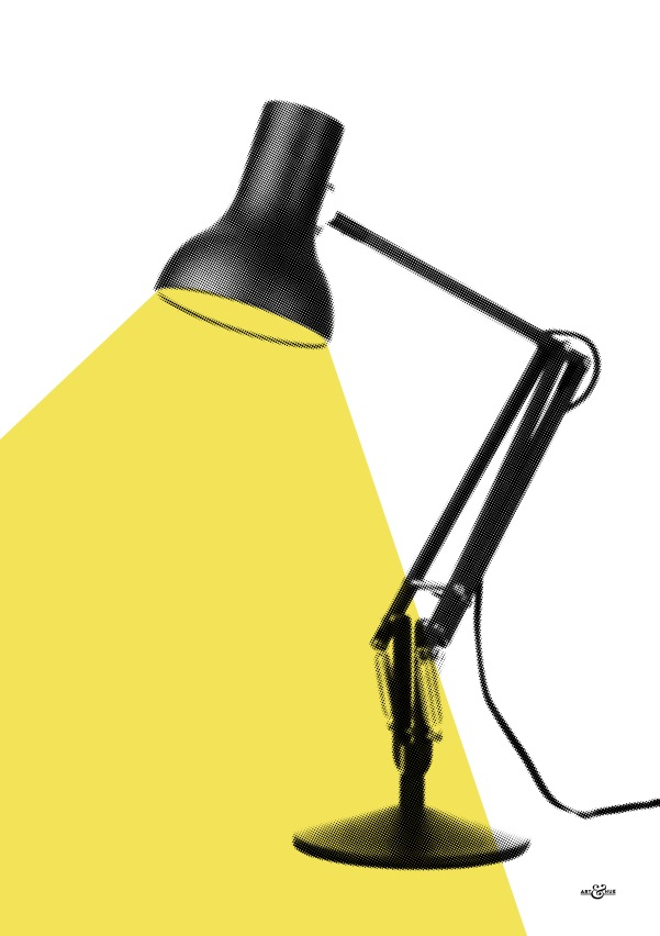 anglepoise left yellow