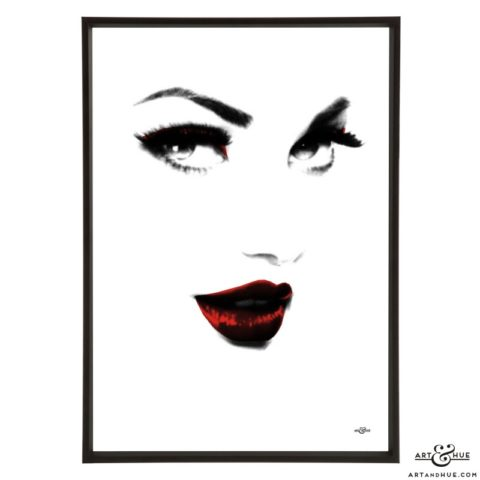 Beauty pop art print by Art & Hue