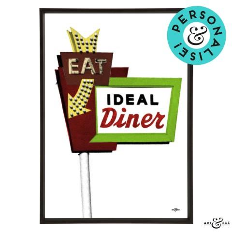 Diner Sign Frame