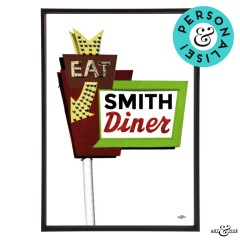 Diner Sign Personlised Frame