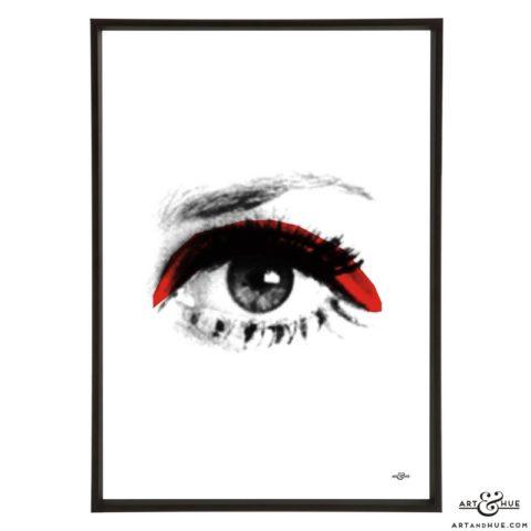 Eye pop art print by Art & Hue