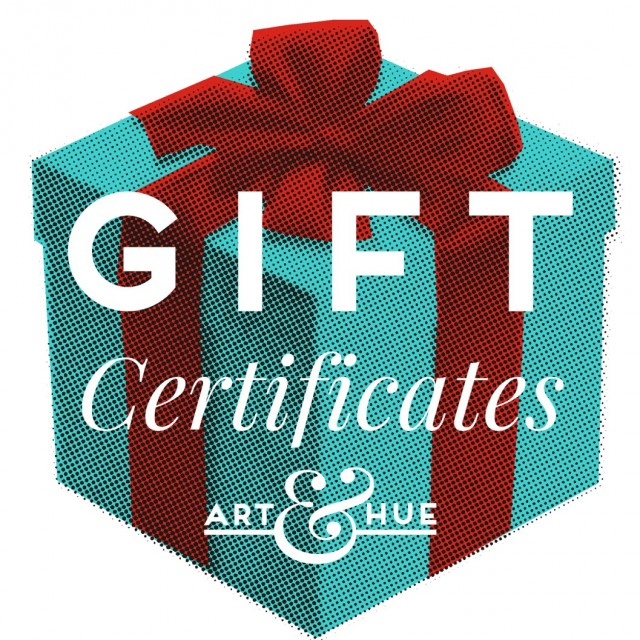 Gift Certificate Art and Hue