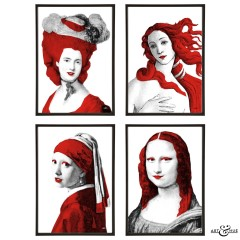 Museum Art Icons Group Red