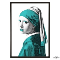 Museum Girl with Pearl Earring aqua