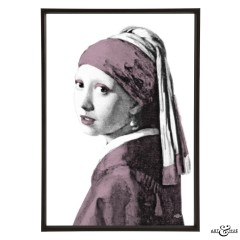 Museum Girl with Pearl Earring lilac
