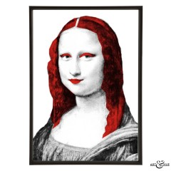 Museum Mona Lisa red