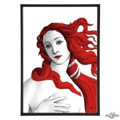 Museum Venus Botticelli red