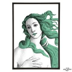 Museum Venus Botticelli verdigris