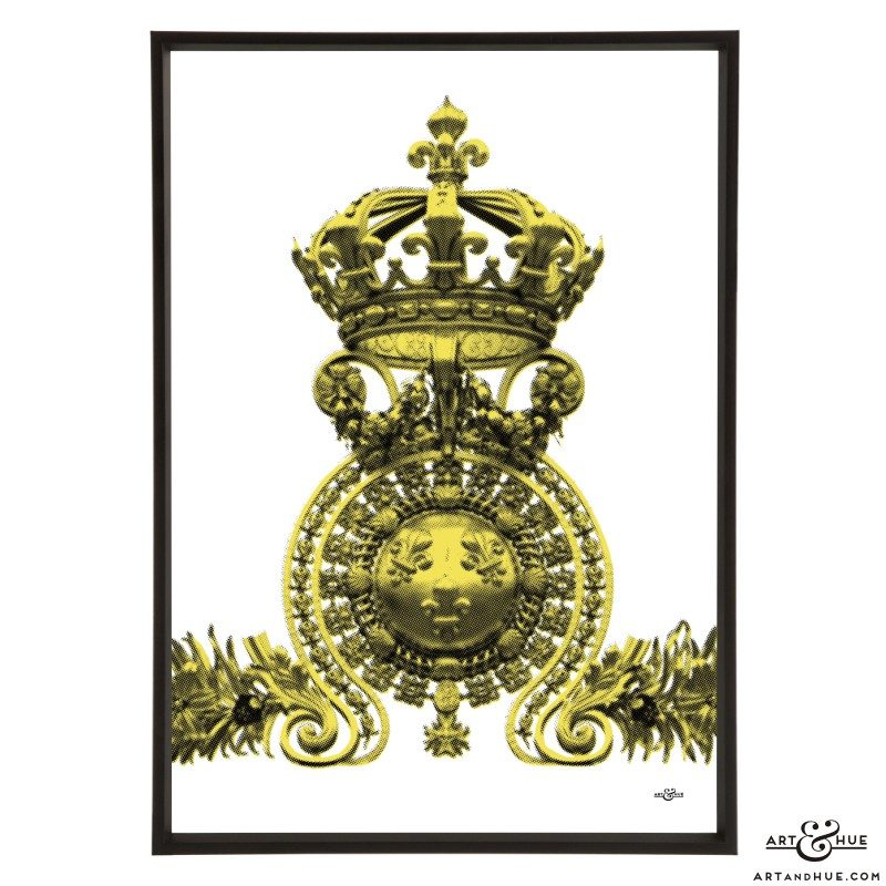Versailles Crown pop art print by Art & Hue