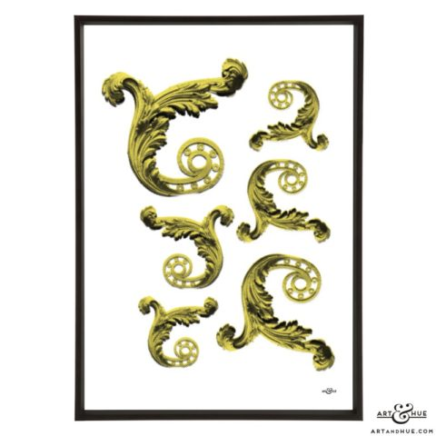 Filigree pop art print by Art & Hue