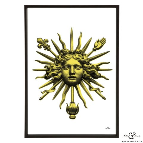 Sun King pop art print by Art & Hue