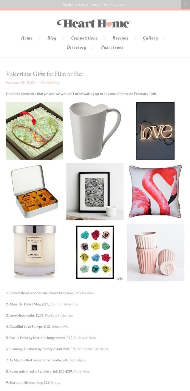 Valentines Gifts for Him or Her — Heart Home