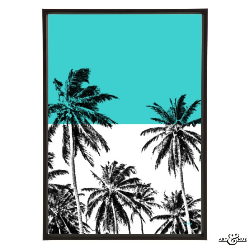 Minimal Beach Palms Frame