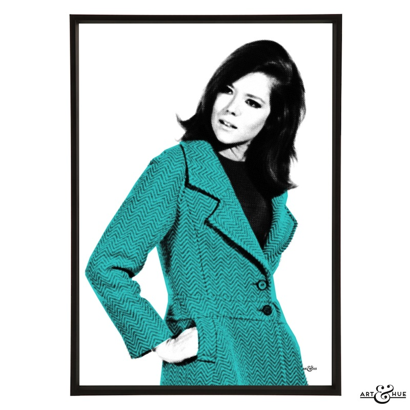Fashion Icon Mrs Peel The Avengers Graphic Pop Art Art Hue