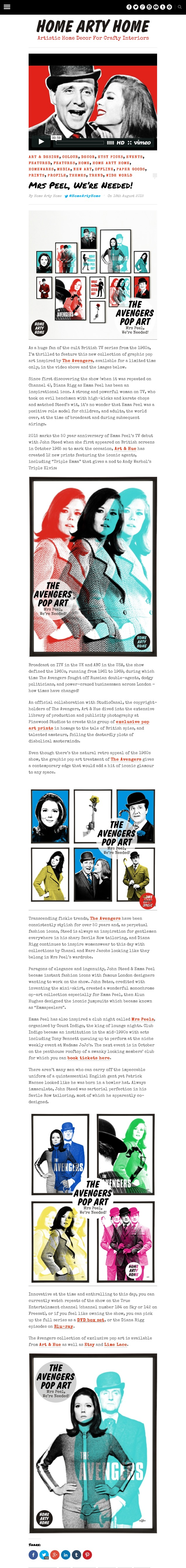 The Avengers Pop Art Home Arty Home