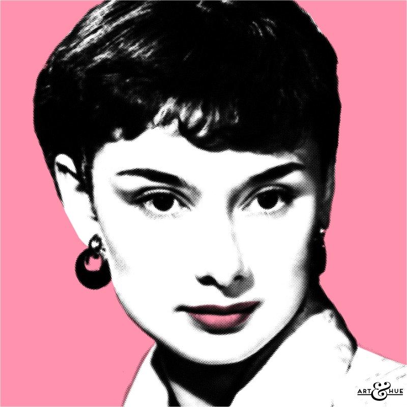 Audrey Beauty Pop Art by Art & Hue - Audrey Hepburn | Art & Hue