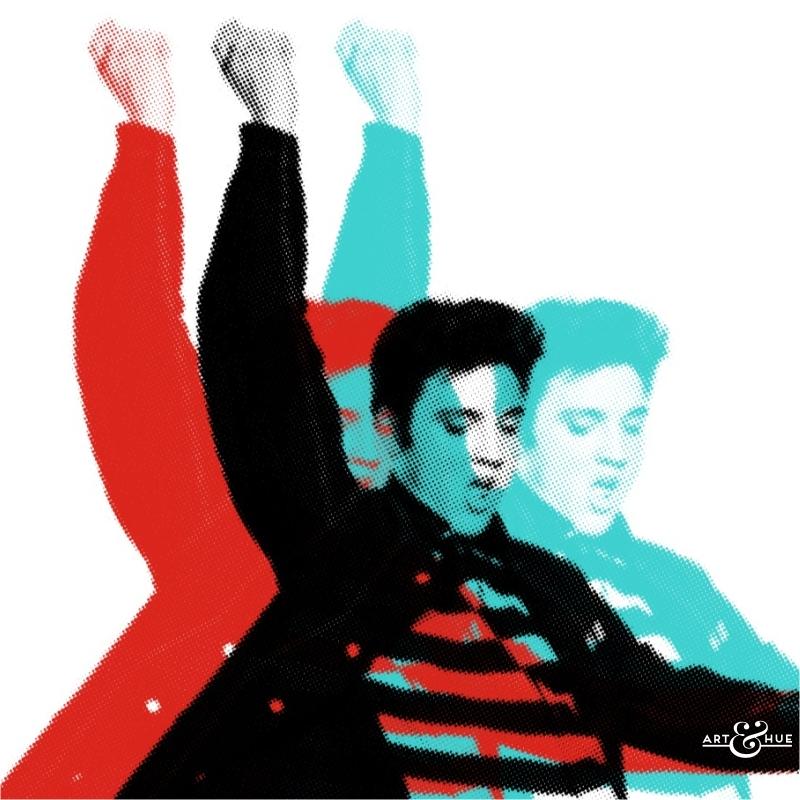 Elvis Presley Rock Pop Art CloseUp
