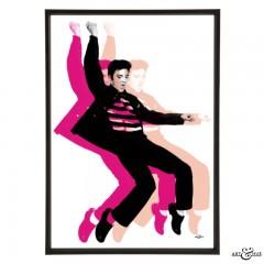 Elvis Presley Rock Frame Tonal Pinks