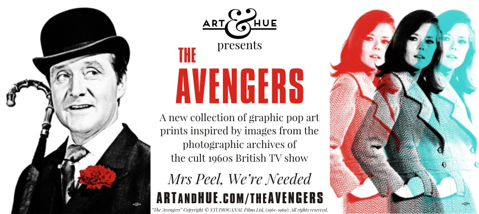 The Avengers Graphic Pop Art by Art & Hue