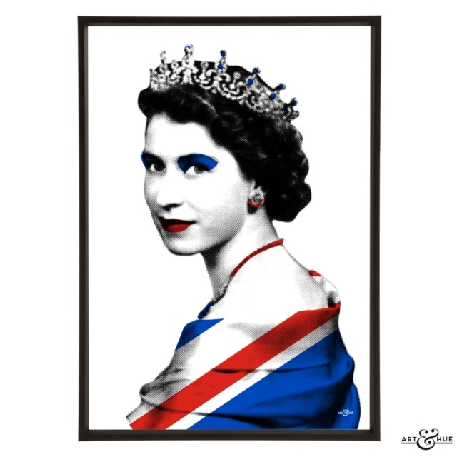 Queen Union Jack Flag Pop Art