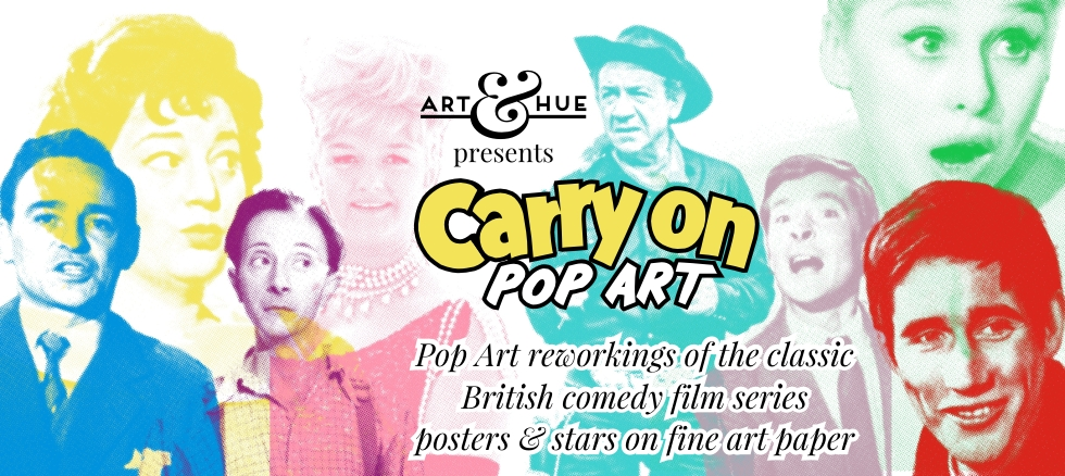 Carry On Films Pop Art prints by Art & Hue