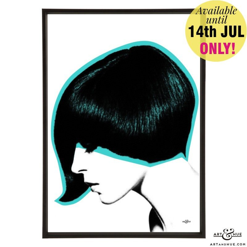 Mod Hair Asymmetric cut by stylist Roger Thompson at Vidal Sassoon model Danae Brooke 1964 Vic Singh Aqua