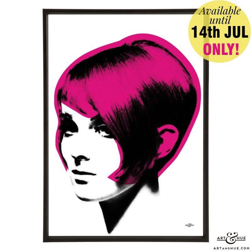 Mod Hair Graduated bob by stylist Vidal Sassoon model Grace Coddington 1963 Vic Singh Fuchsia