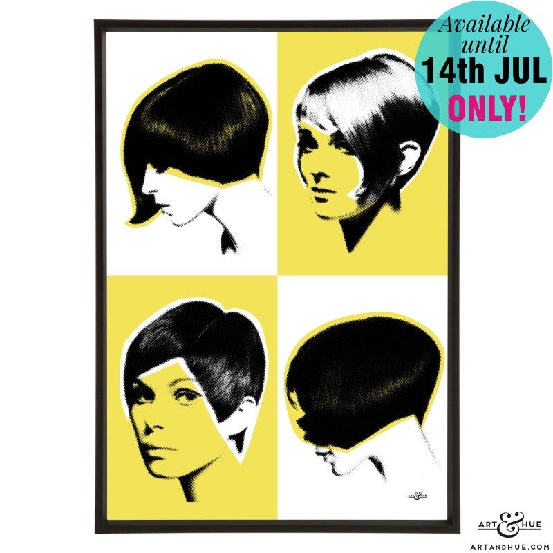 Mod Quad Hairstyles Yellow