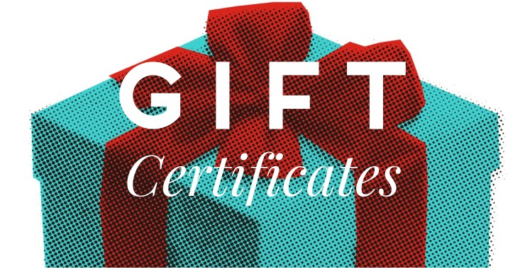 Gift Certificates Gift Vouchers