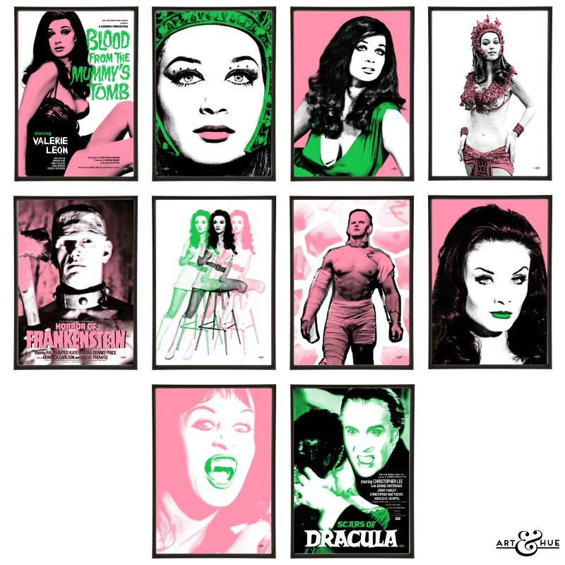 Hammer Horror Group of Pop Art Prints