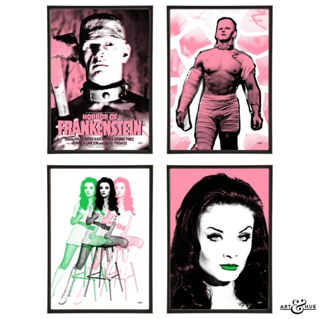 Horror of Frankenstein Group of pop art prints