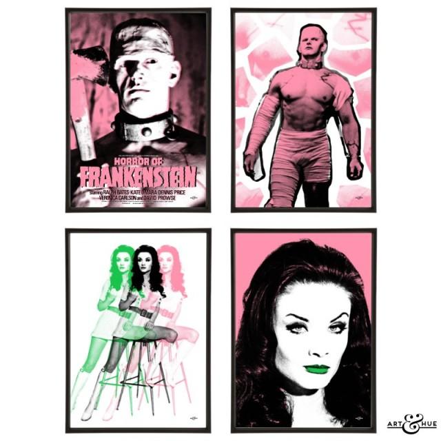 Horror of Frankenstein Group of pop art prints