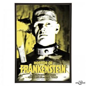 Horror of Frankenstein Pop Art by Art & Hue