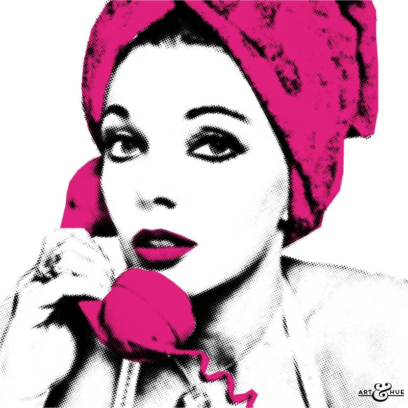 Hold the phone Joan pop art