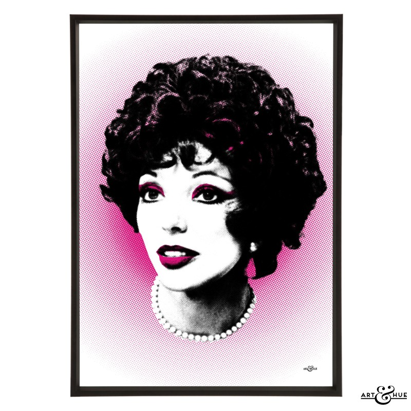 Joan Collins Pop Art By Art Amp Hue Stylish Pop Art Prints