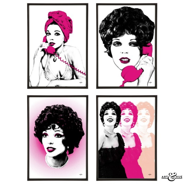 Joan Collins group of pop art prints by Art & Hue