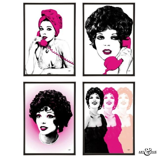 Joan Collins group of pop art prints by Art & Hue