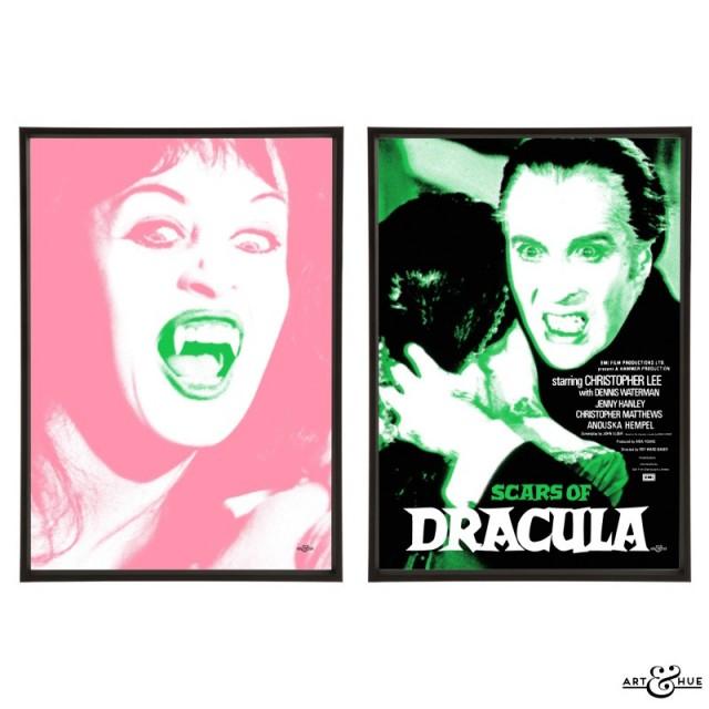 Scars of Dracula pair of pop art prints