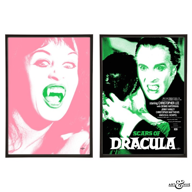 Scars of Dracula pair of pop art prints