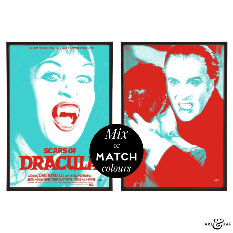 Scars Of Dracula Pair Of Stylish Pop Art Prints Art Amp Hue
