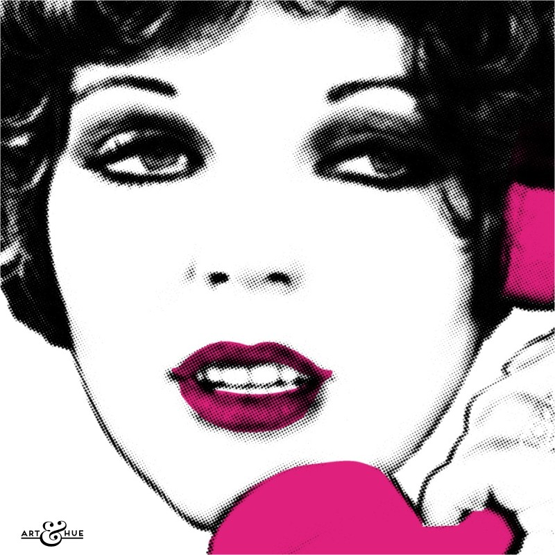 Hold the phone it's Joan Collins pop art