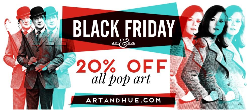Black Friday 20% off pop art