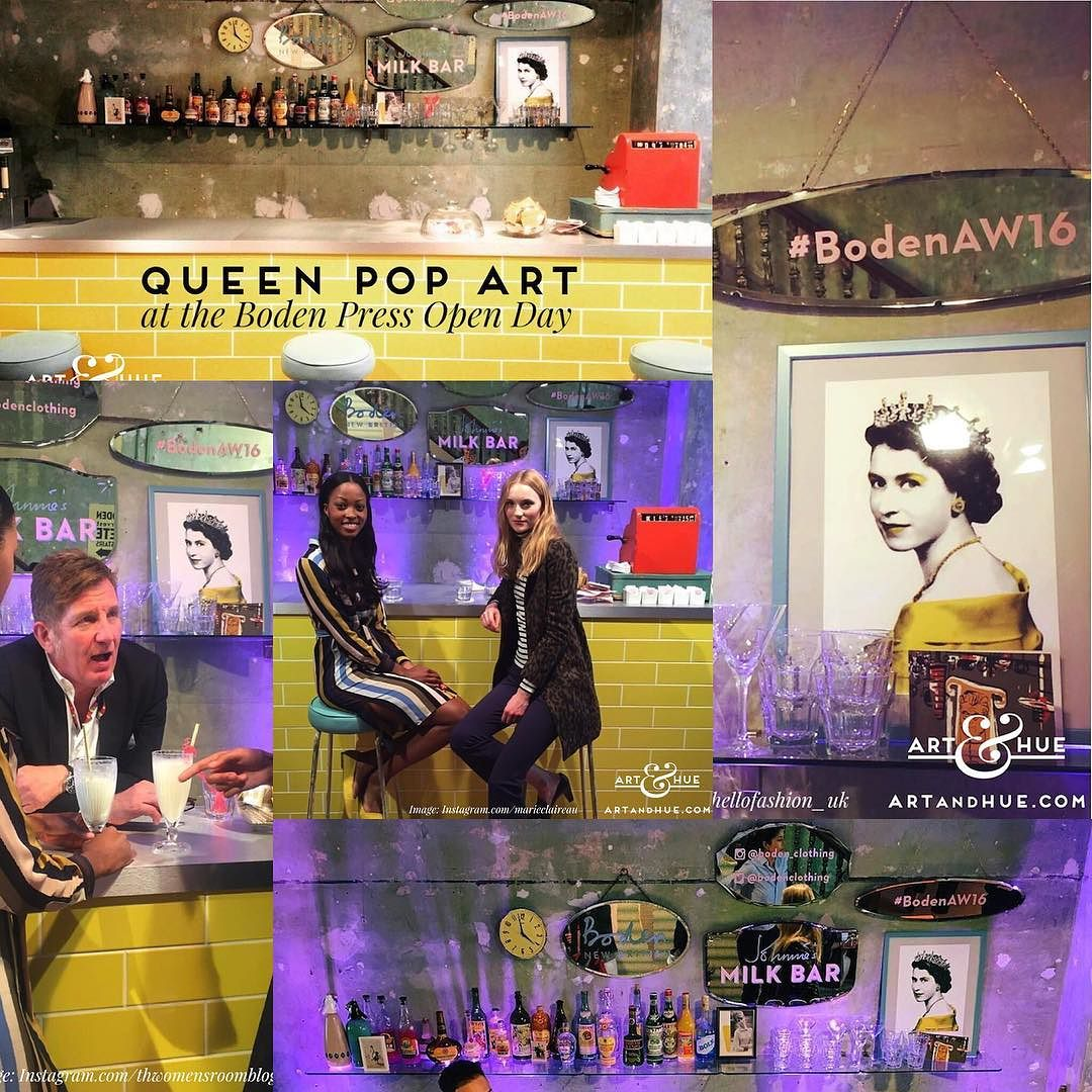 The Queen Pop Art at Boden