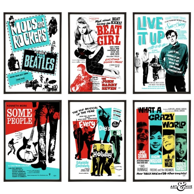 Beat Films & Mod Musicals Pop Art group of six prints