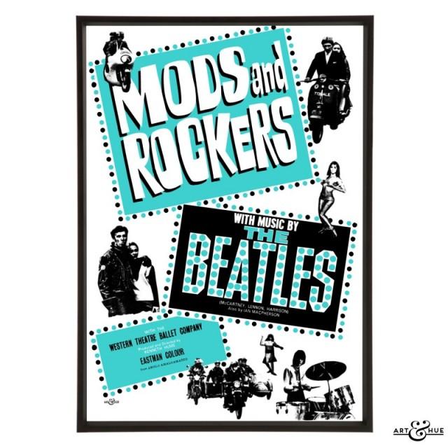 Mods & Rockers pop art print by Art & Hue
