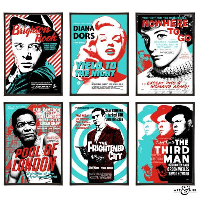 Brit Noir Group of Six Pop Art Prints