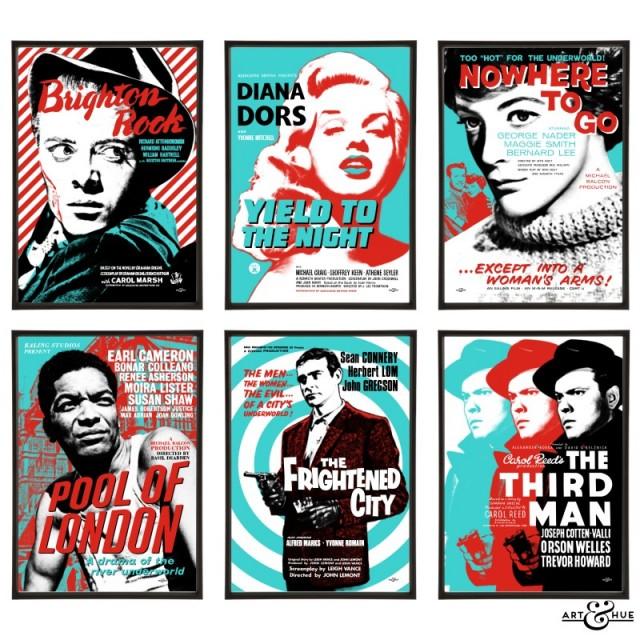 Brit Noir Group of Six Pop Art Prints