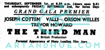 Newspaper Clipping of Gale Premiere Cinema Listing