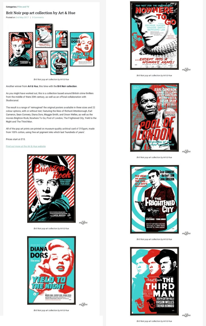 RetroToGo Brit Noir Pop Art